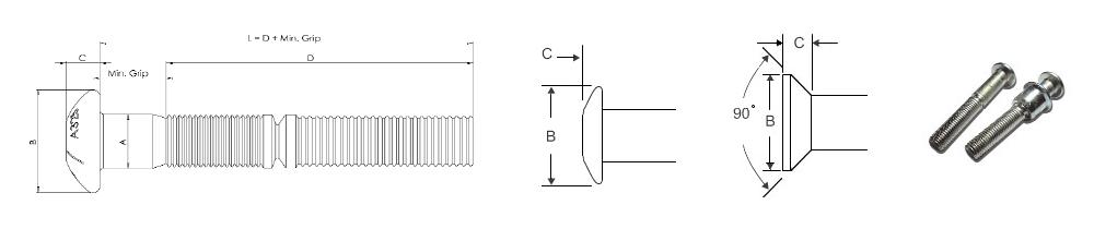 LB - High-Strenght Lockbolt Pins