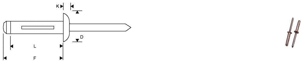 Dome head - Aluminium/Aluminium